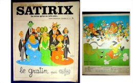 """""""SATIRIX"""" (La REVUE Qu´on Ne Jette Pas) Humour Dessin DUBOUT #3 Dec. 1971 ! - Humour"""