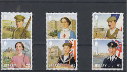 Jersey 2014 MNH WW1 Great War Part 1 Participation 6v Set Red Cross Soldier WWI - Militaria