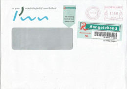 Netherlands Nederland 1997 Castricum Meter Franking EMA Barcoded Registered Cover With Signature AR Card - Period 1980-... (Beatrix)