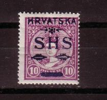 GOOD YUGOSLAVIA / CROATIA MH Stamp 1916 - CORONATION / ZITA - Overprint - Croatia