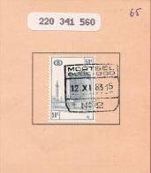 FEF-34     MORTSEL OUDE GOD   // N° 2     Ocb TR 427  Op Spoorwegdokument - 1942-1951