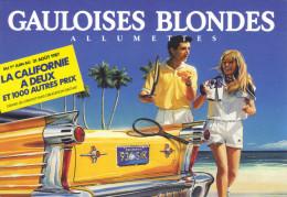 CARTE POSTALE Publicitaire  Allumettes GAULOISES BLONDES / Année 1987 - Documents