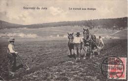 SOUVENIR DU JURA - LE TRAVAILLEUR AUX CHAMPS - ATTELAGE DE CHEVAUX - LABOUR - Svizzera