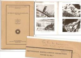 """BIRDS Of SOCOTRA"" Ornithology Ornithologie Oiseau Yemen S. DILLON RIPLEY Signé Signed Inscribed ! - Sciences Biologiques"