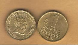 URUGUAY -  1   Peso 1998  KM103 - Artigas - Uruguay