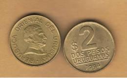 URUGUAY -  2   Pesos 1994  KM104 - Uruguay