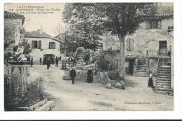 CPA , Saint Cyprien, Place De L' Eglise , La Poste, Arrivée Du Courrier, Voyagée 2 Scans, Ed Phototipie Des Docks , Caho - Unclassified