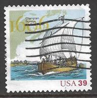 2006 39 cents Champlain, sailing ship, used