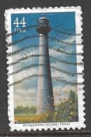 2009 44 cents Lighthouse, Matagorda Island, TX, used