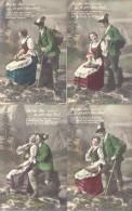 AUF DER ALM DA GIBT'S KOA SUND! SERIE COMPLETA COMPLETE SET 6 CPA 1900s TBE DOS DIVISE UNCIRCULATED MUSICA MUSIC - Koppels
