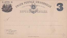 Postal card , 1890s TRES , Republica Peruana