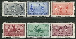 "Costa Rica      ""Soccer""     Set    SC# C283-88    MNH**"