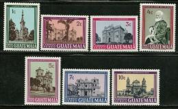 "Guatemala        ""Churches""      Set     SC# C364-70    MNH**"