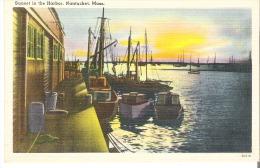 Sunset In The Harbor, Nantucket, Massachusetts - Nantucket