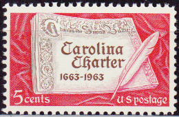 USA 1963, Carolina Charter, MNH