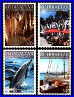 GIBRALTAR 2004 EUROPA - CEPT SC#960-63 MNH CV$7.50 DOLPHIN, CAVES, SHIPS (3ALL)