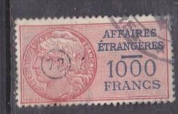 France AFFARIES ETRANGERES, 1000 FRANCS Used - Revenue Stamps