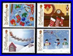GIBRALTAR 2010 CHRISTMAS SC#1253-56 MNH  TOYS, CLOCK, SANTA (3ALL) - Clocks
