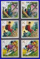BHUTAN 1971 BOY SCOUTS SC#134-39 MNH (3ALL) - Scouting