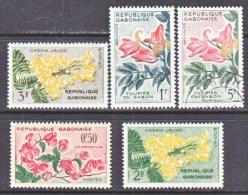 GABON  154-8   *   (o)   FLOWERS - Gabon