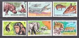 GABON  203-8   Fault  *  FAUNA  AFRICAN  ANIMALS - Gabon