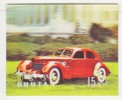 BHUTAN  128 C   *  3  D  STAMP    ANTIQUE  CAR  CORD - Holograms