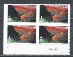 USA. Scott # C 134 MNH plate block of 4. Rio Grande 1999