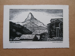 36957 ARTIST´S SKETCH - Above Zermatt - BY H. E. V. Gillham. - Royaume-Uni
