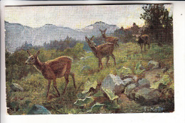 JAGD - HUNTING - JACHT - CHASSE - CACCIA - CAZA - LOWIECTWO - Rehe - Künstler-Karte - Altri