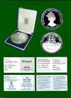 Pitcairn Islands; 50 Dollar; 5 Oz Silber HMAV Bounty 1989 PP, Durchm. Ca. 6,6 Cm; In Plastikbox Und Etui (1 Stück) (M18) - Pitcairn