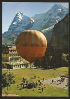 BALLON Mürren Ballonsportwoche Ballon-Briefmarke - Montgolfières