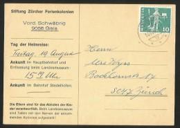 GAIS Ferienkolonie Postkarte Die Eltern Sind Für Das Abholen Der Kinder Verantwortlich 1966 - AR Appenzell Rhodes-Extérieures