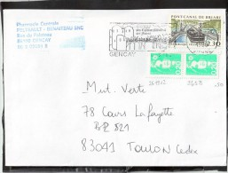FLAMME / LETTRE  2658+2618X2  86 GENCAY - Marcophilie (Lettres)
