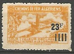 ALGERIE COLIS POST YVERT  N� 196  / MAURY N� 211 SANS SURCHARGE    NEUF* TTB / MH