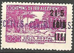 ALGERIE COLIS POST YVERT  N� 180  / MAURY N� 198  NEUF* TTB / MH