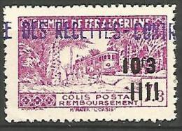 ALGERIE COLIS POST YVERT  N� 172  / MAURY N� 194  NEUF* TTB / MH