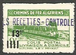 ALGERIE COLIS POST YVERT  N� 170  / MAURY N� 193  NEUF* TTB / MH