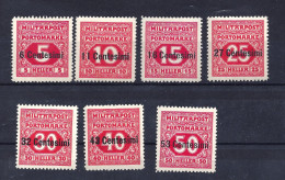 F.P. f. Ital. Porto Mi. Nr. 1 - 7 ungebraucht
