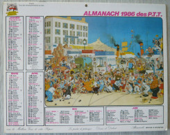 DUBOUT  Calendrier  Almanach PTT 1986 ( Drôme 26) - Kalender