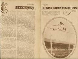 """Feuillet  Article Actualité De 1920 """" LES JEUX OLYMPIQUES """" à ANTIBES .par Georges ROZET. - Documentos Históricos"""