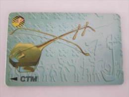 Macau GPT Magnetic Phonecard,13MACB Music Instrument,used - Macau