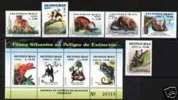 HONDURAS 2004 - FAUNE PROTÉGÉ - 6v + 6 P.f. + Bloc - Briefmarken