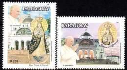 PARAGUAY 1996. Pélerinage à Caacupé. Visite Du Pape J.P. II à La Vierge (2) - Other Collections