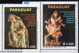 PARAGUAY 2002. Sculptures En Bois (2) - Other Collections