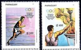 PARAGUAY 1994. Centenaire Du Comité International Olympique (2) - Other Collections