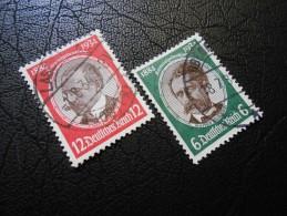 D.R.Mi 541x+542x - 6+12Pf  Kolonialforscher 1934 - Germany