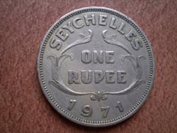 Seychelles : One Rupee 1971 ; Portrait Reine Elisabeth II D'angleterre - Seychelles