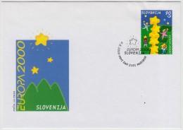 SLOVENIA FDC No.14/2000 EUROPA - Slovénie