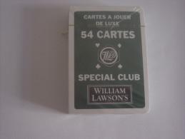 JEU DE 54  CARTES A  JOUER SOUS EMBALLAGE  -  WILLIAM LAWSON'S