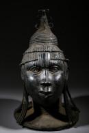 Tête De Reine D´ifé En Bronze - Art Africain